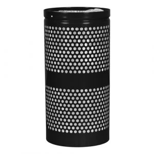 Landscape Series Outdoor Trash Receptacle - 34 Gallon - Black