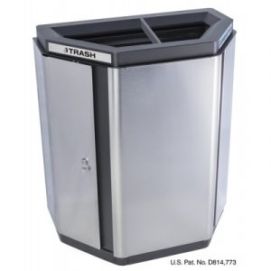 Echelon Half-Hex Collection Indoor Receptacle